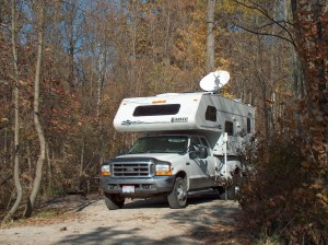 Our good lookin' rig in Kettle Moraine State Forest, WI